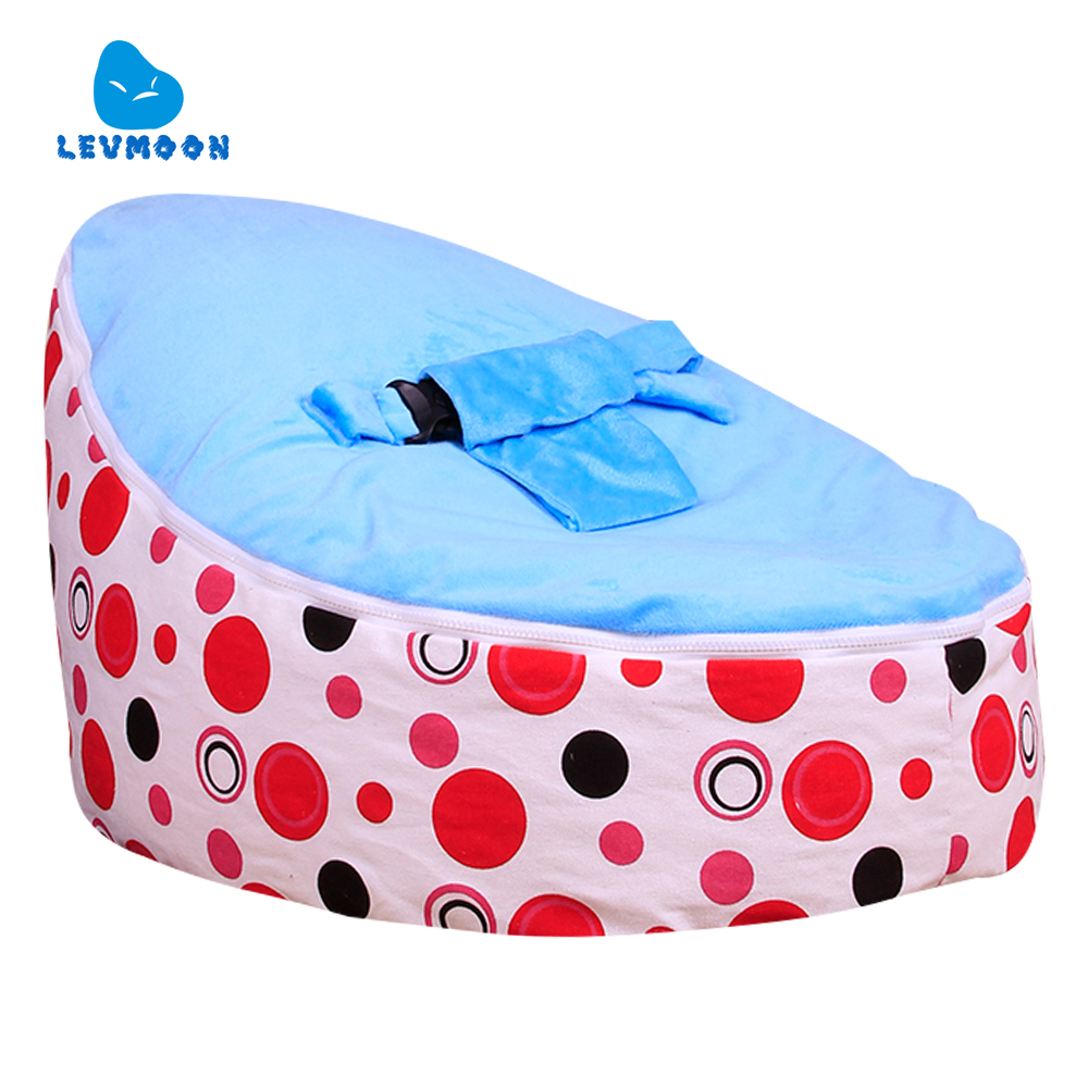 Levmoon Medium Red Circle Print Bean Bag Chair Kids Bed For Sleeping Portable Folding Child Seat Sofa Zac Without The Filler levmoon medium blue circle print bean bag chair kids bed for sleeping portable folding child seat sofa zac without the filler