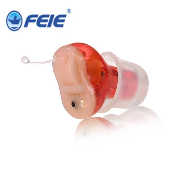 Aide auditive d'oreille Mini appareil auditif Invisible Sordos oreille voix amplificateur audio aides auditives numériques pour la careS-13A d'oreille sourde