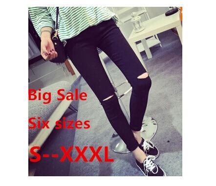 RenYvtil Plus Madhësia 2020 Gratë pambuku të larta elastike Gratë e zeza me rrip të lartë të zi me pantallona të gjera të pëlhura të thurura me thikë të hollë Capris 3XL