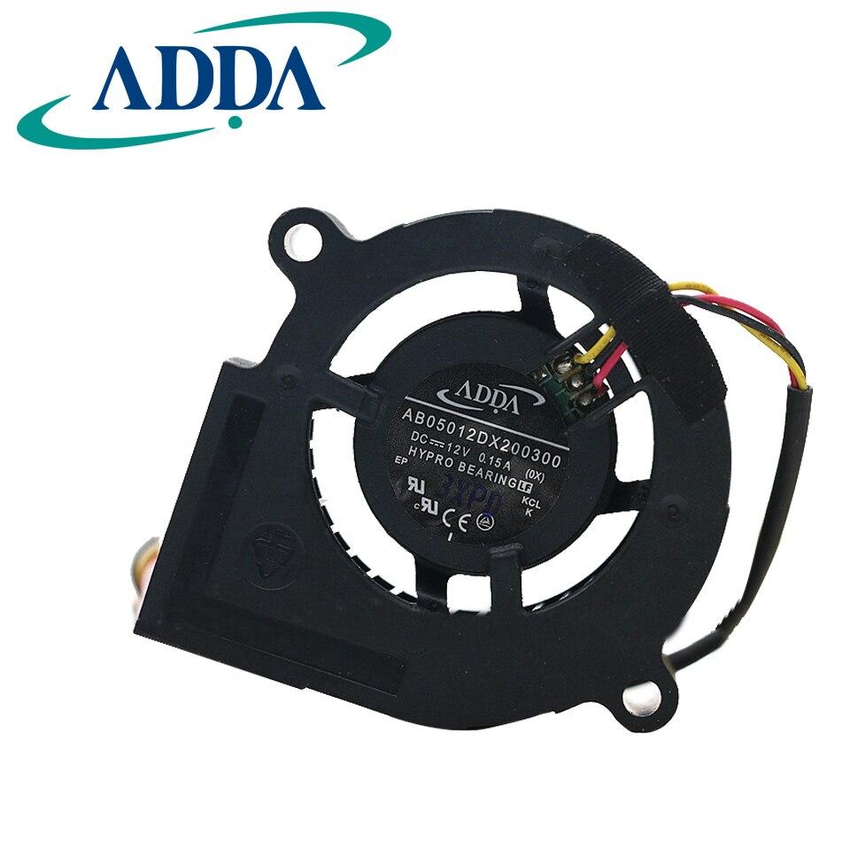 Free shipping original ADDA original 5020 DC12V 0.15A AB05012DX200300 5cm turbo fan adda ad7512hb 7530 dc12v 0 24a