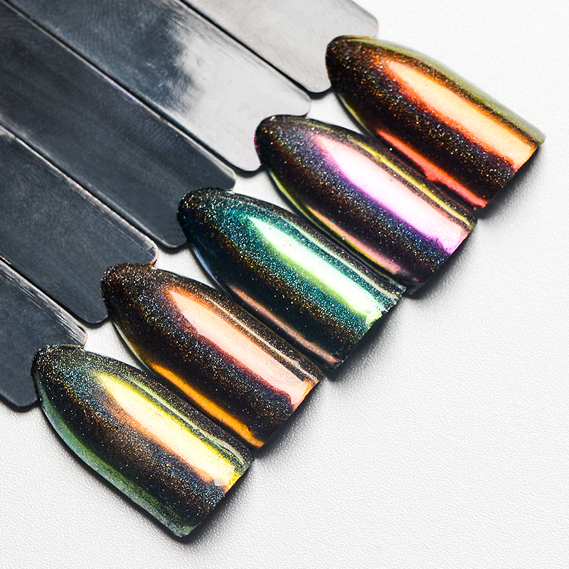 Mtssii Mirror Nail Glitter Chrome Nail Art Pigment Shell Dazzling Holographic Powder Laser Manicure Nail Art Decoration Dust
