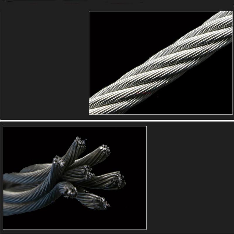 5 метров 2 мм 3 мм 4 мм 5 мм 6 мм 8 мм диаметр стальной голой трос подъемный кабель 304 из нержавеющей стали бельевая линия