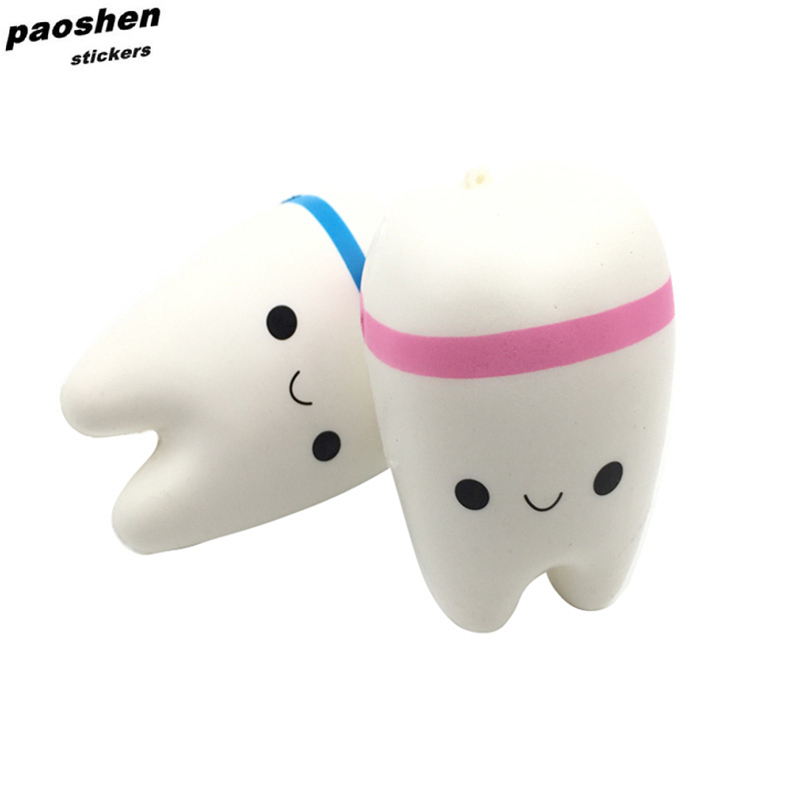 Squishy Fun Crazy Poo Cartoon Tooth Toys Imitation Soft Slow Rebound Childrens Toys Decorated with Decorative Decorations