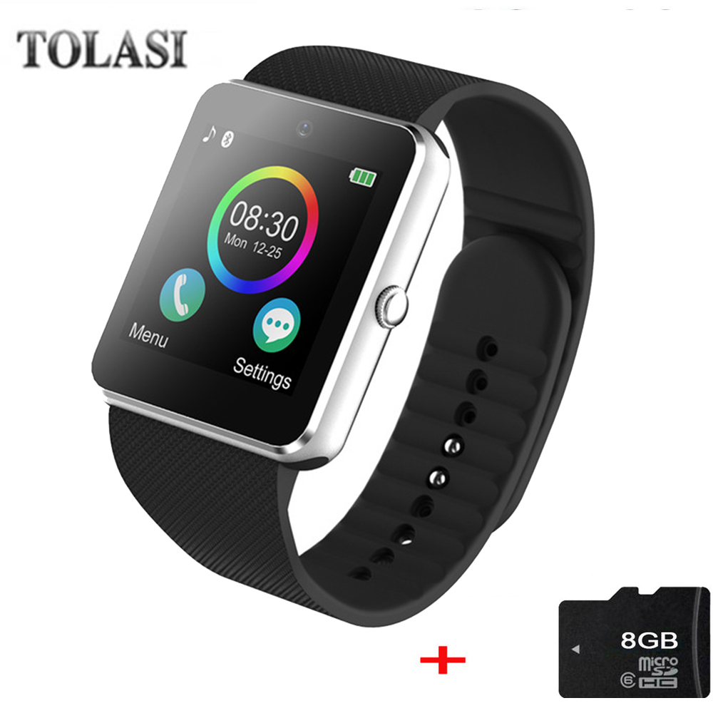 Men Smart Watch Android GT08 Clock With Sim Card Slot Push Message Bluetooth Connectivity Android Phone PK DZ09 Smartwatch