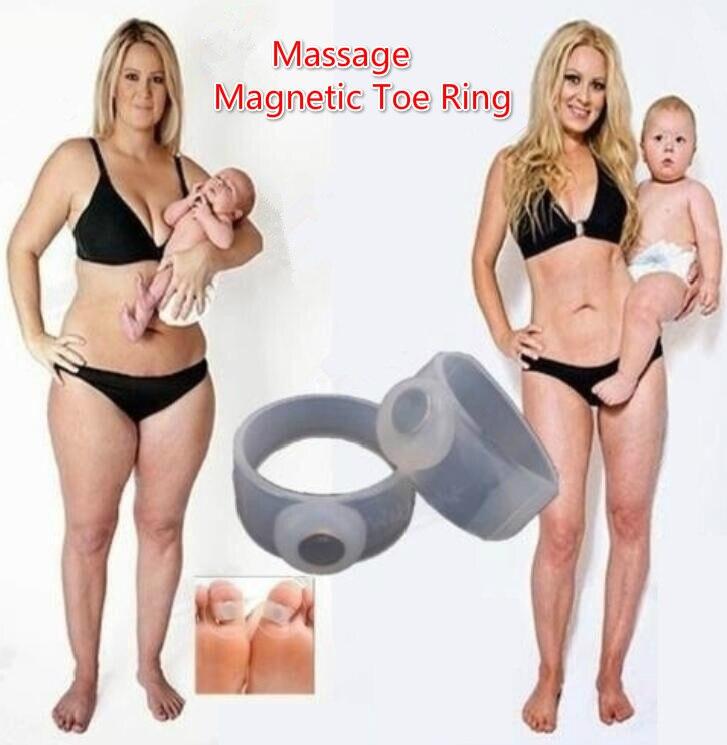Sanft Silikon Fuß Massage Magnetische Kappe Ring Fett Burning Abnehmen Brennen Frauen Verlieren Gewicht Schnelle Reduzieren Körper Werkzeug Anti Cellulite RegelmäßIges TeegeträNk Verbessert Ihre Gesundheit Schlankheits-cremes Gesundheitsversorgung