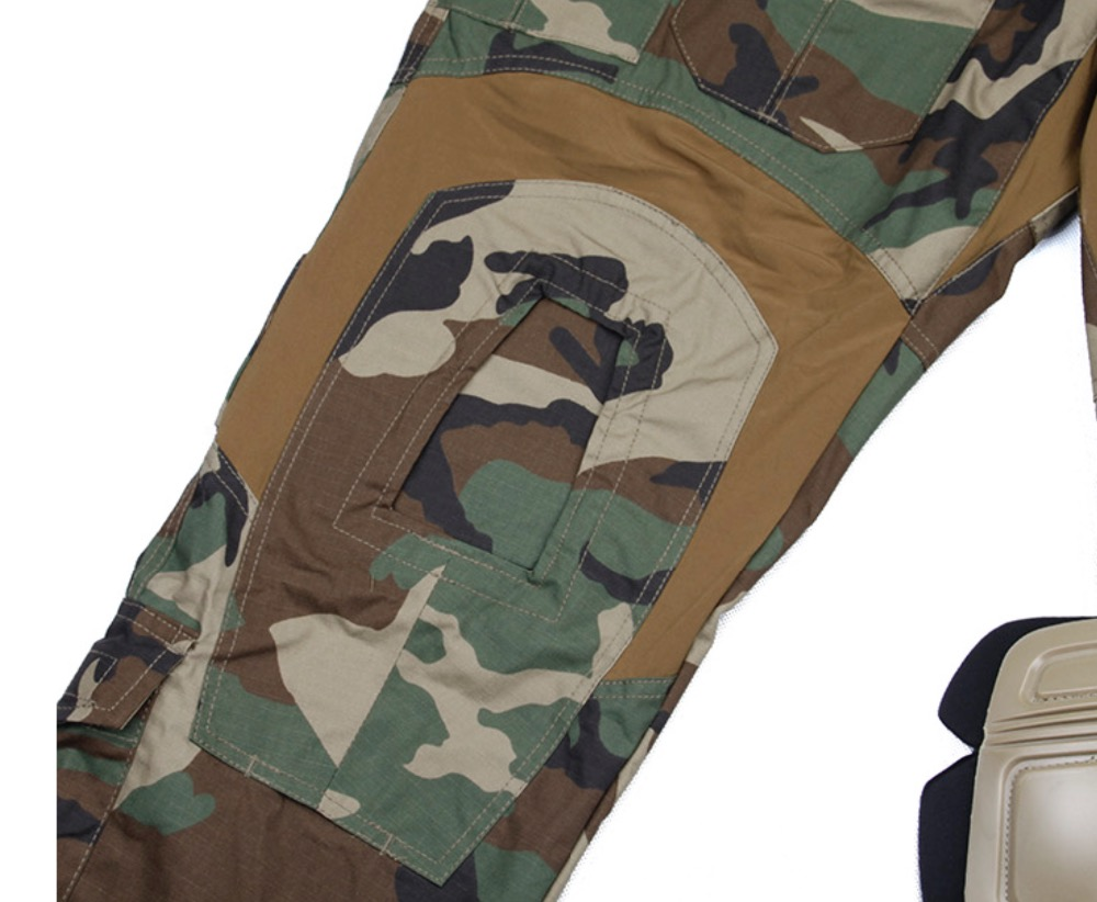 44e6a6af16acd TMC Gen3 Woodland Tactical Military Combat 3D Pants with Pad Trousers for  paintball airsoft-in Hiking Pants from Sports & Entertainment on  Aliexpress.com ...