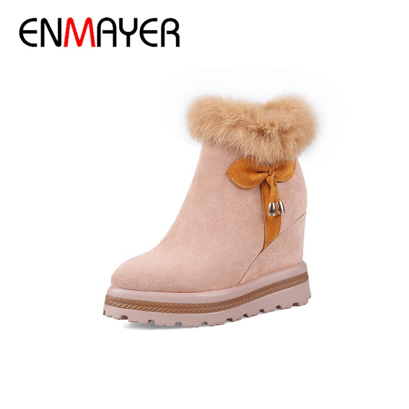 ENMAYER Winter Warm Womans Shoes Hight Increasing Ankle Boots Femal Zip Platform Shoes Snow Boots Dating Outside Boots CY085ENMAYER Winter Warm Womans Shoes Hight Increasing Ankle Boots Femal Zip Platform Shoes Snow Boots Dating Outside Boots CY085