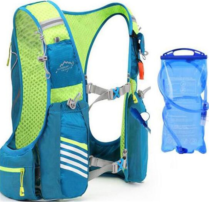 New Running Marathon Hydration Nylon 10L Outdoor Running Bags Hiking Backpack Vest Camping Hiking Cycling Backpack