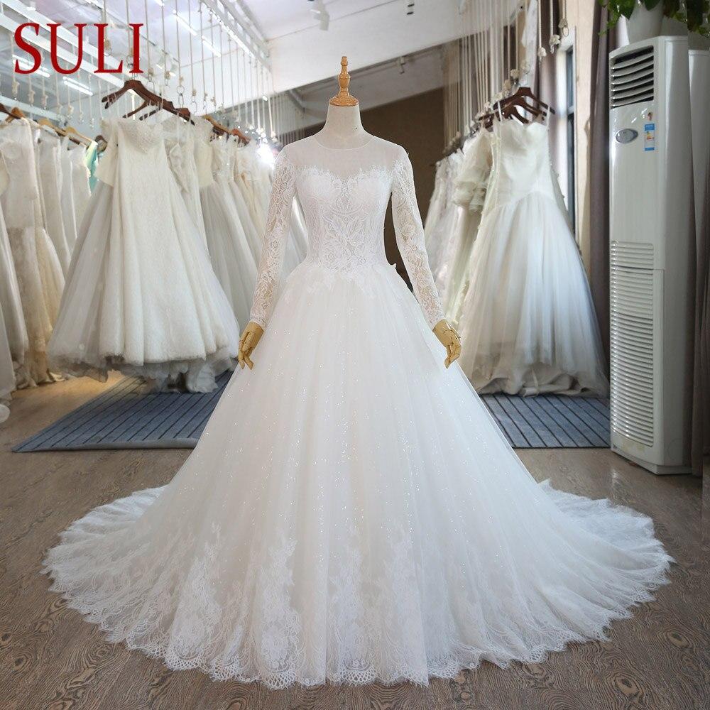 SL-89 vintage Lace Long Sleeve Muslim Wedding Gowns Cheap Plus Size Bohemian Wedding Dresses(China)