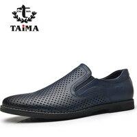 TAIMA temporada Novo Design Cor Navy Preto Coleção Homens Loafers Confortável Homens Flats Shoes #995502