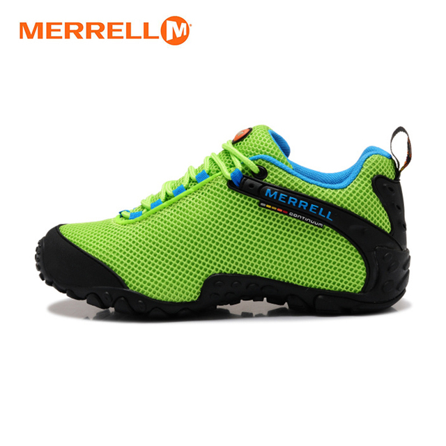 Merrell Asli wanita Bernapas Camping Terbuka Olahraga Jala Sepatu Hiking  Untuk Mountaineer Climbing Sneakers Hijau 36 0326067269