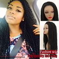 African American Twist Braiding Wigs Heat Resistant Synthetic Lace Front Wigs Glueless Braided Lace Wig For Black Women