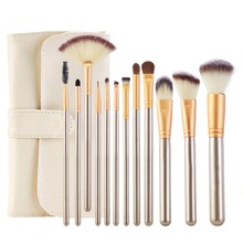 12Pcs Professional Makeup Brushes Set Powder Blush Foundation Eyeshadow Make Up Fan Brushes Cosmetic Kwasten Sets цены