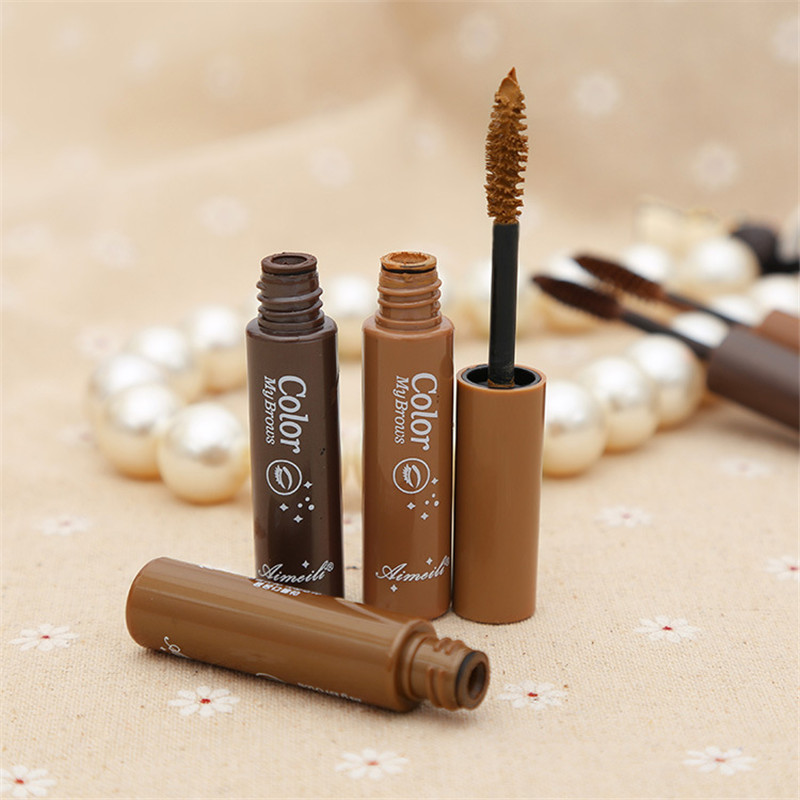 Waterproof Dye Eyebrow Enhancers Mascara Cream Natural Eyebrow Gel Long Lasting Brown Beauty Eye Tint Set Kit