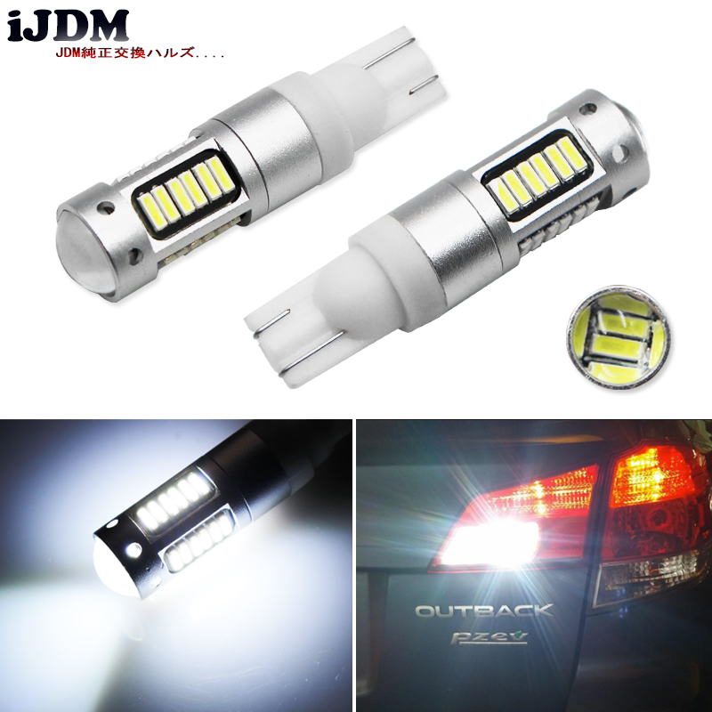 iJDM T10 Bulb w5w LED Car DRL 912 921 906 168 T10 LED Clearance Light Brake Turn Signal Lamp 12V 6500k White Amber Yellow Red
