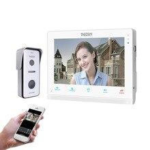 TMEZON 10 дюймов беспроводной/Wifi умный видео-звонок Дверной домофон, 1 xTouch экран монитор с 1×720 P Проводная дверная камера телефон