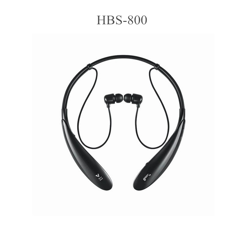 HBS-800 Stereo Sports Bluetooth Headset Wireless Headphone Neckband Style Earphones for iPhone HTC Ultra Brand New HBS800 Black
