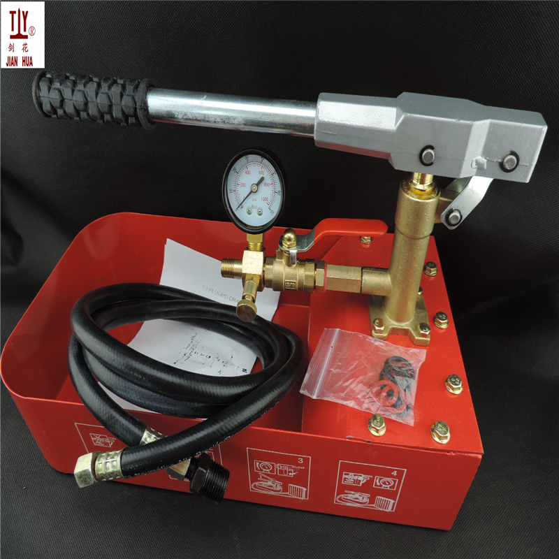 6MPA 0-50KG Full copper manual test pump pipe pressure tester PPR water pipe test water machine to warm the leak detector цена 2017