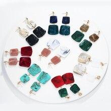 New  Candy Color Acetate Earrings Korean Temperament Versatile Minimalist Geometry Women Beautiful Acrylic Dangle