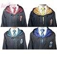 Alta Qualidade Harry Potter Robe Gryffindor Traje Cosplay Crianças Adulto Manto manto 4 estilos Presente do Dia Das Bruxas 11 TAMANHO