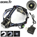 New 2000Lm XM-L XML T6 LED Zoomable Headlight  Headlamp Head Light  linternas frontales cabeza ,Wholesale