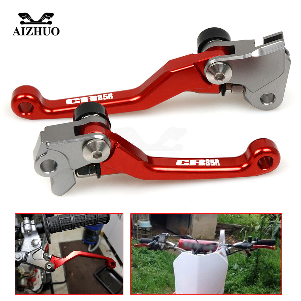 For honda CR80R CR85R CR125R CRF150R CRF230F CRF250L CRF250M CR 80R 85R Motorcycle Motocross dirt bike Pivot Brake Clutch Levers in Levers Ropes Cables from Automobiles Motorcycles