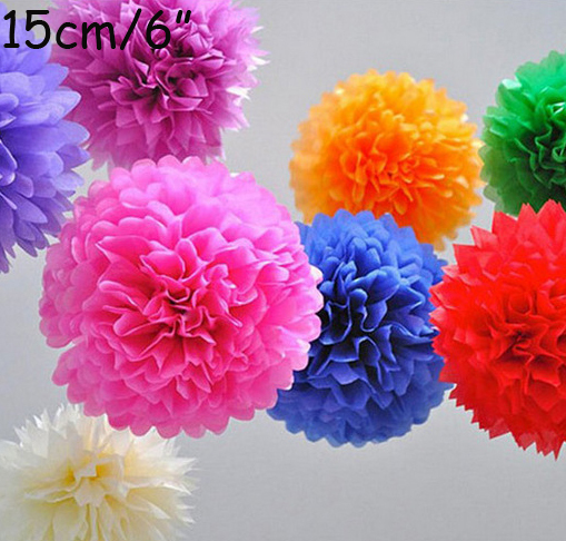 Tissue paper pom poms small paper flower pom wedding decoartion baby tissue paper pom poms small paper flower pom wedding decoartion baby shower bridal decor hanging room pom 15cm6 in artificial dried flowers from home mightylinksfo Image collections