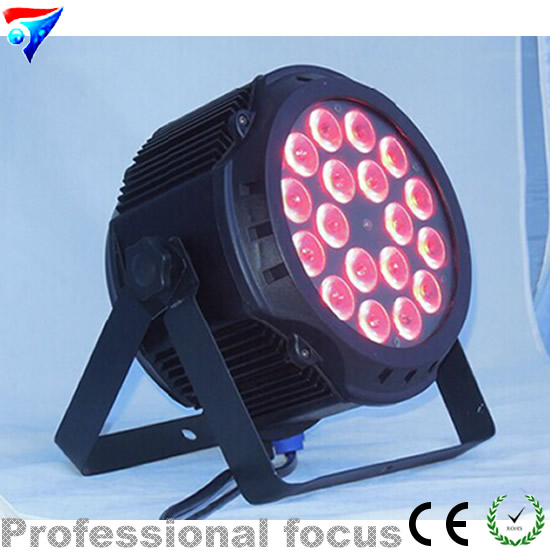 Free Shipping 18x18W RGBWA UV Stage Lighting 6in1 Led Indoor Par Cans LED PAR IP20 Lighting LED PAR Light