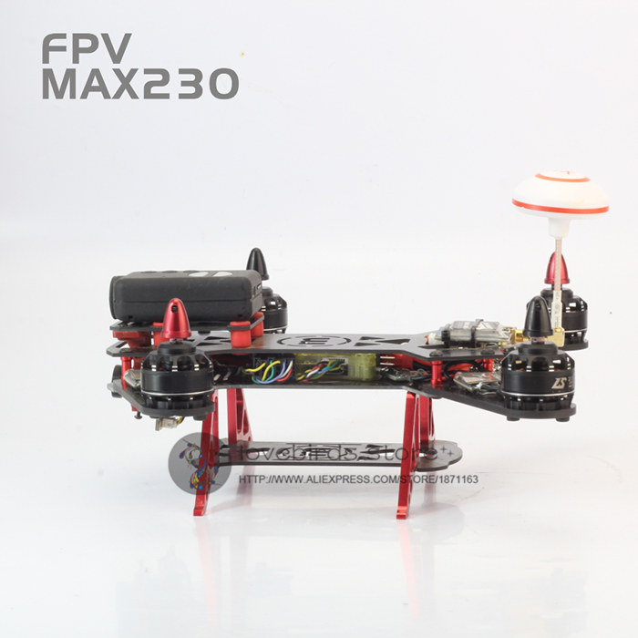 DIY mini drone cross racing quadcopter pure carbon fiber empty frame FPV MAX230 Five CNC alloy landing unassembled diy fpv mini drone qav210 quadcopter frame kit pure carbon frame cobra 2204 2300kv motor cobra 12a esc cc3d naze32 10dof