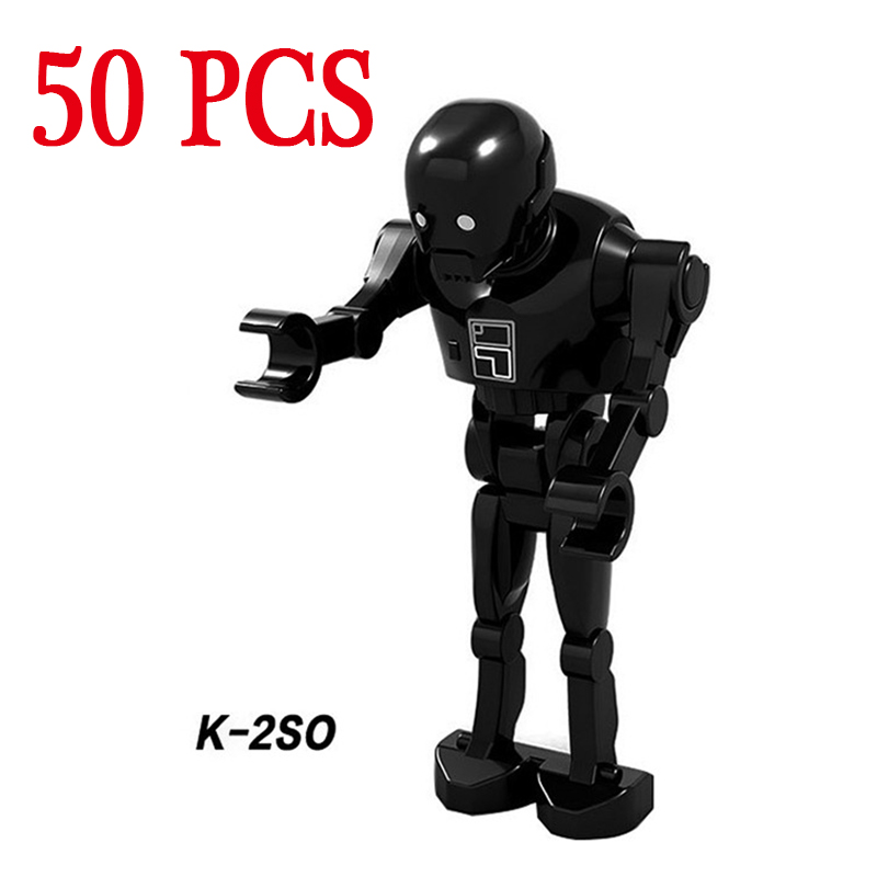 gifts Star Wars Pogo K-2SO Wholesales First Order Heavy Gunner Stormtroopers 50PCS Building Blocks Bricks Compatible legoe Toys