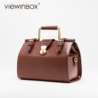 Viewinbox Vintage Luxury Handbags Women Bags Designer Fashion Setting Bag Case Women Madam Leather Shoulder Bag Doctor Handbags