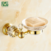 Free shipping Crystal & Brass Glass Bathroom Accessories Soap Dishes / Holder/Soap Case CY006