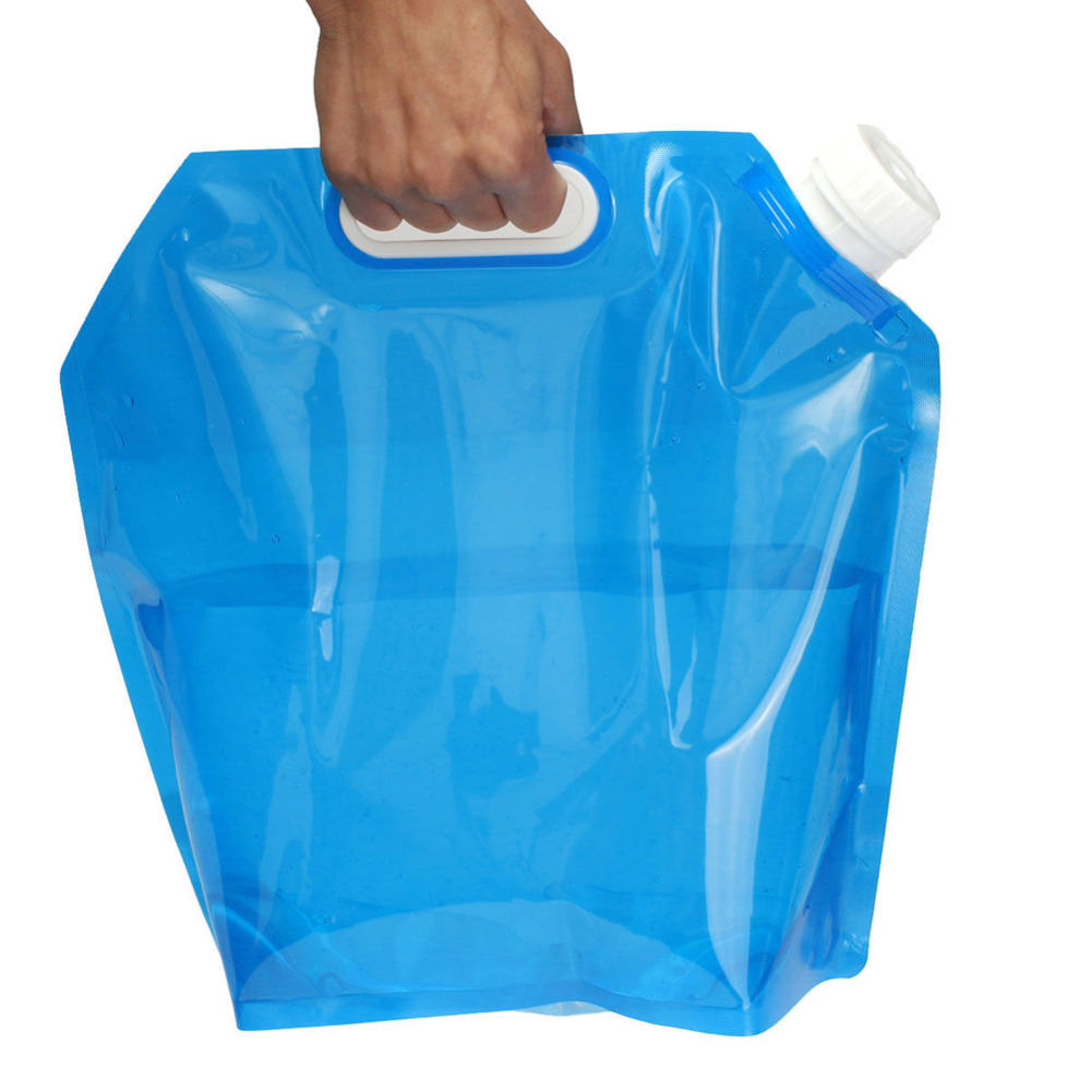 5L Water Bag For Camping Hiking Portable Folding Water Storage Lifting Bag Survival Outdoor Accessories Travel Kits Equipments