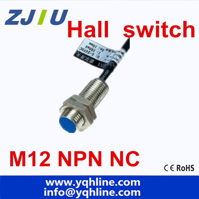 US $17 09 10% OFF|M12 Hall Effect Sensor Proximity Switch NPN NC 3 wires  normally close with magnet 5PCS/free shipping-in Switches from Lights &
