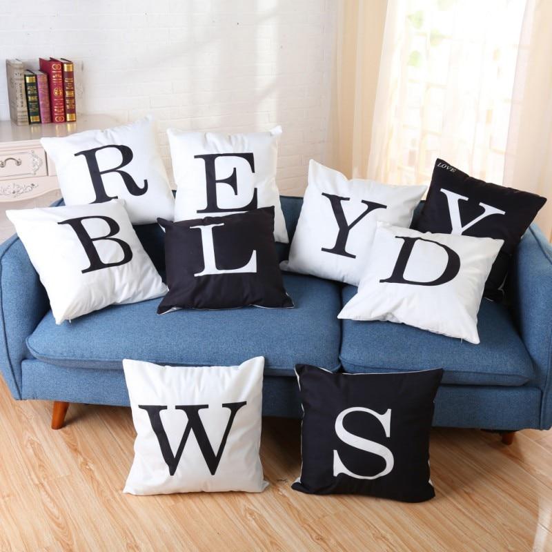Letters 26 Printing Christmas LED lights lit pillow cushions velvet pillowcase creative 2018