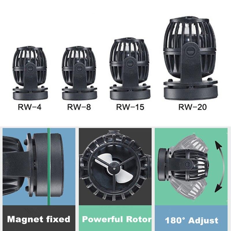 4 tailles hélice Aquarium vague fabricant pompe réservoir de poisson Wavemaker DC pompe à eau tête pas de contrôleur pour récif de corail marin réservoir de poisson