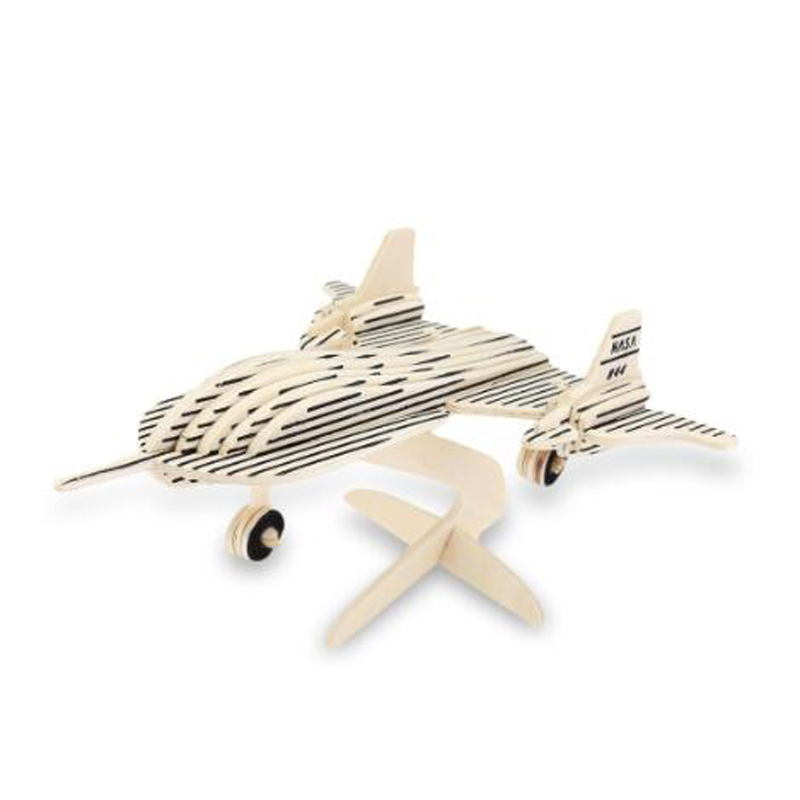 36 Pieces Sealand Wp-115 Wooden 3d Black Bird Aircraft Model Simulation Construction Kit Educational Toy Special Bithday Gift Toys & Hobbies Puzzles