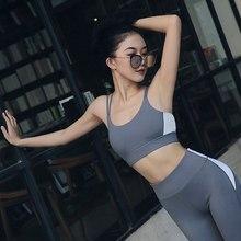 6c7434fe35 New Sports Bra Gathered Shockproof Sports Underwear Female Running Fitness  Beauty Back Yoga Vest Female(