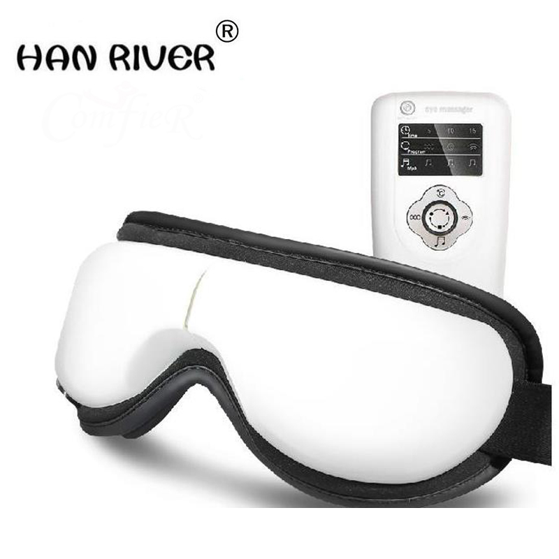 Hot sales mp3.6 eye massager, eliminate pouch, eye magnetic far-infrared heating. Eye health care massage glasses eye mask kiki new air pressure eye massager with mp3 6 functions dispel eye bags eye magnetic far infrared heating eye care