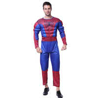 adult costume Amazing Spiderman Movie Character Classic Muscle Marvel Fantasy Superhero Halloween Carnival Party Costume
