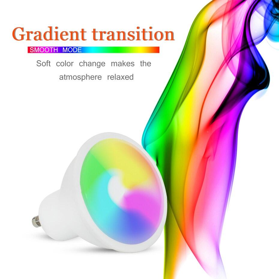 Ampola GU10 8W RGB Lâmpada Led 220V 110V Iluminação Home Decor Cores GU10 16 RGBW RGBWW Levou luz Da Noite lâmpada Bombillas Led GU 10