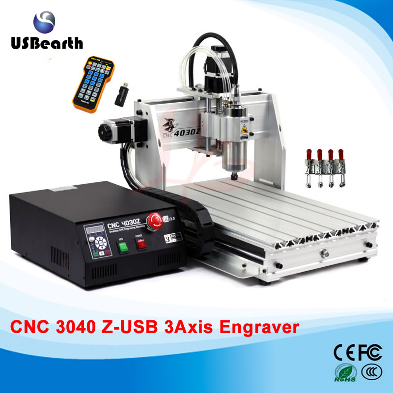 Free tax to RU LY 4030Z-800W USB 3 axis mini CNC router with mach3 remote control free tax