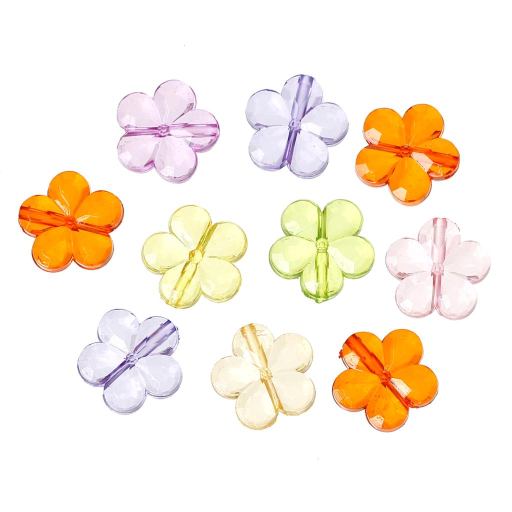 "DoreenBeads Acrylic Spacer Beads Flower Mixed About 15.0mm (5/8"") x 15.0mm (5/8""), Hole: Approx 1.5mm, 40 PCs 2015 new"