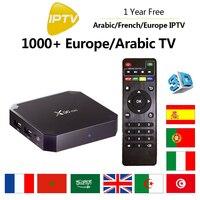 1 Année Français IPTV X96 Mini Android 7.1 TV Box 1 GB + 8 GB/2 GB + 16 GB Amlogic S905W Quad Core France Europe Arabe ROYAUME-UNI TV canaux