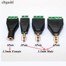 Cltgxddビデオavバラン3.5ミリメートル2/3/4ポールステレオオスavネジ端子ステレオジャック3.5ミリメートル男性/女性ブロックプラグコネクタ