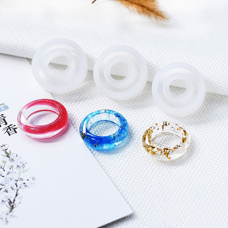 Multi-Size/Set 3 Pcs DIY Ring Tool Silicone Mold Fashion Dried Flower Resin Handmade Jewelry Tool Fantastic Epoxy Resin