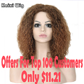 Long Ombre Brown Curly Wig Kinky Curly Cheap African Wigs For Black Women Blonde Ombre Curly Wig Natural Hair Woman Wigs Coplay