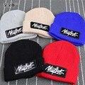 2015 novo estilo cap moda bebê meninas / meninos chapéus crianças malha chapéu, Carta nova iorque chapéu de crochê inverno para meninas
