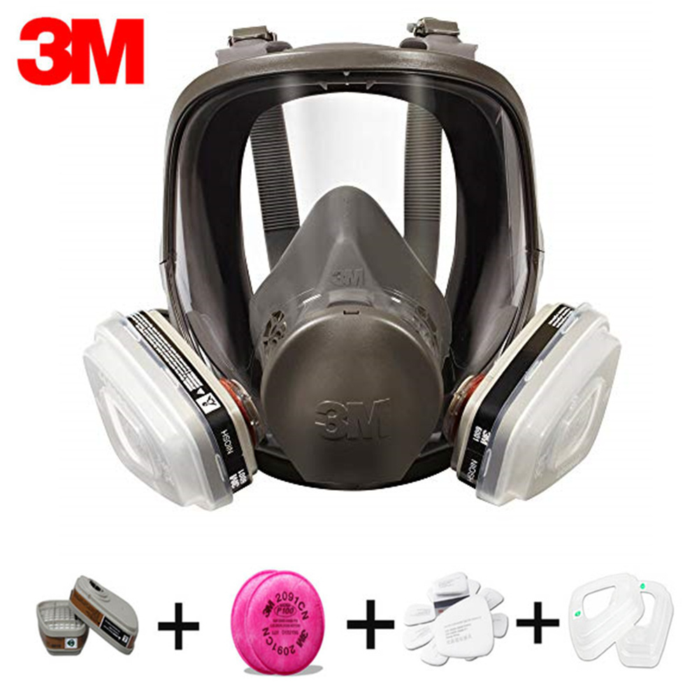 Authentic <font><b>3M</b></font> 6800 respirator gas mask Brand protection respirator mask against Organic gas with <font><b>6001</b></font>/2091 fiter Suit image