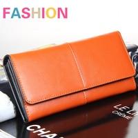Genuine PU Leather Long Women Clutch Wallet Female Evening Bag Handbag Lady Coin Purse Carteira Feminina